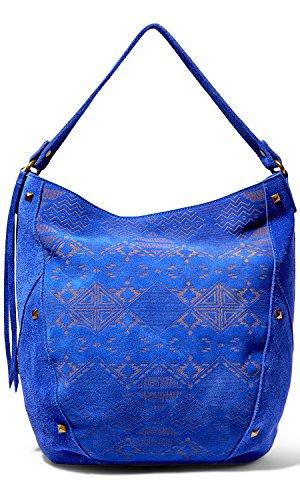 Steve Madden Bnixx Lazer Etched Suede Hobo handbag