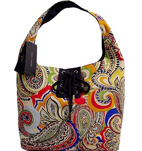 Tommy Hilfiger Paisley Large Hobo Tote Bag Handbag Travel Beach