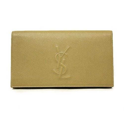 Yves Saint Laurent 361120 YSL Large Belle du Jour Clutch in Nude/Camel Leather