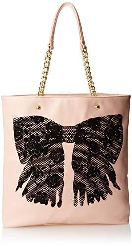 Betsey Johnson Flock-A-Bows Tote Handbag