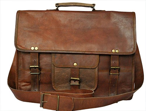 Genuine Leather Laptop Bag 15″ Handcrafted Vintage Eco-Friendly by RusticTown