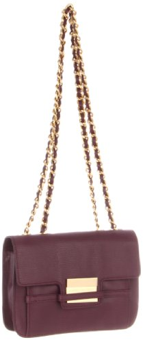 Z Spoke by Zac Posen Women's Americana Double Chain Shoulder Bag, Plum