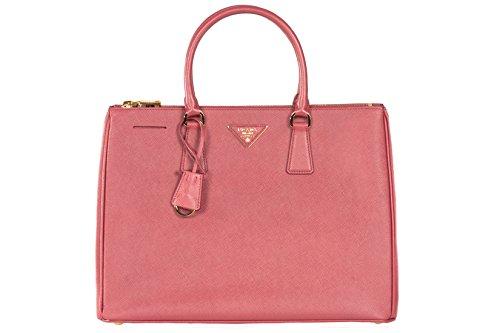 Prada BN2274 Authentic Bag – Pink Brughiera Saffiano Lux Calf Leather Handbag