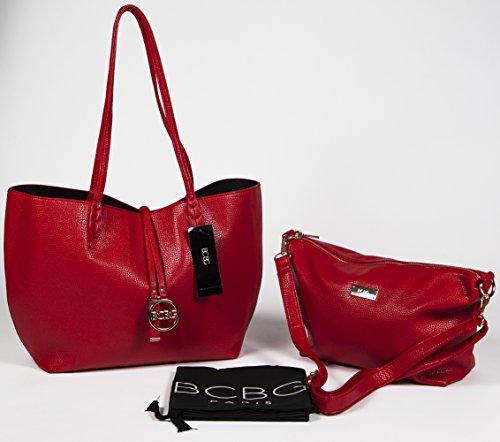 BCBG PARIS Handbag Convertible Reversible Bag Red/Black,Stylish Bag, Regular Size, 2014/2015 Collection[Apparel],Available on different Colors