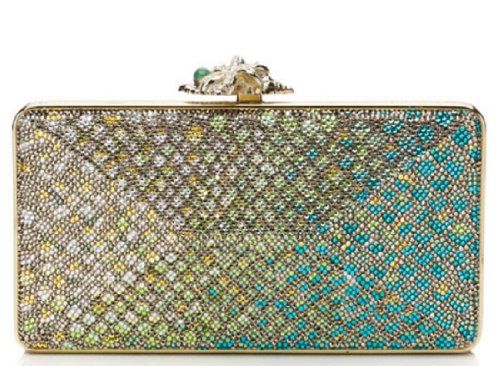NEW Judith Leiber Everglades Avenue Snakeskin Pattern Crystal Clutch Collectible -Retail $3695