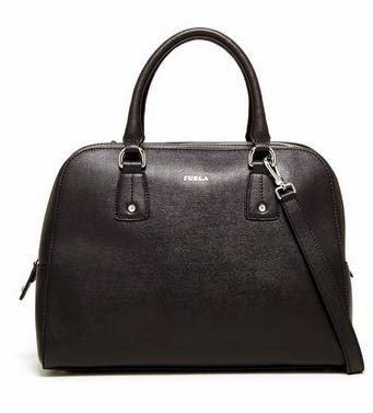 Furla Elena Leather Satchel Hand Bag