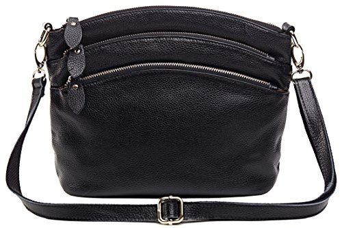 Heshe New Office Lady Genuine Leather Casual Vintage Cross Body Shoulder Bag Satchel Purse Handbag