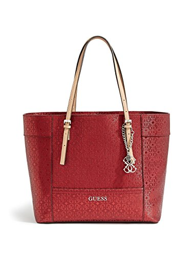 GUESS Women's Delaney Textured Logo Medium Classic Tote