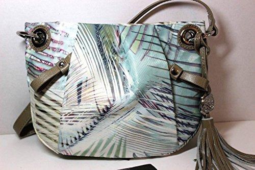 Vince Camuto Bark Cristina Cross Body Nylon & Leather Crossbody Handbag