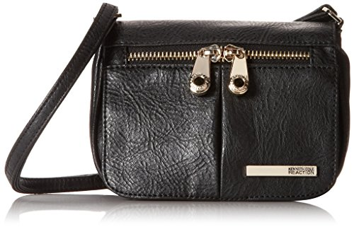 Kenneth Cole Reaction Wooster Street Small Flap Cross Body,Black,One Size