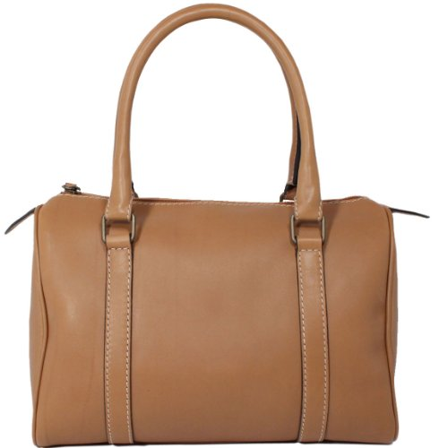 Lisa Doctor Style Calfskin Leather Bag Made in Italy by Aldo Lorenzi