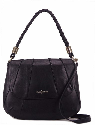 Cole Haan Womens Adele Jenna Shoulder Bag, Black, One Size