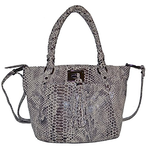 Elliott Lucca Embossed Leather Cordoba Satchel Crossbody Bag Cross Body Strap Women's Purse
