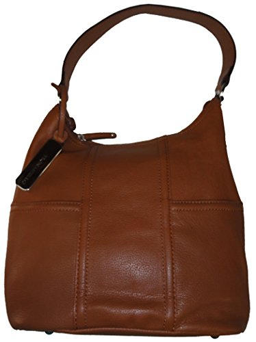 Tignanello Leather Purse Handbag Back to Basics Hobo Cognac