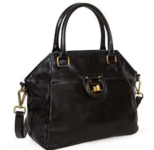 Elliott Lucca Black Leather Satchel