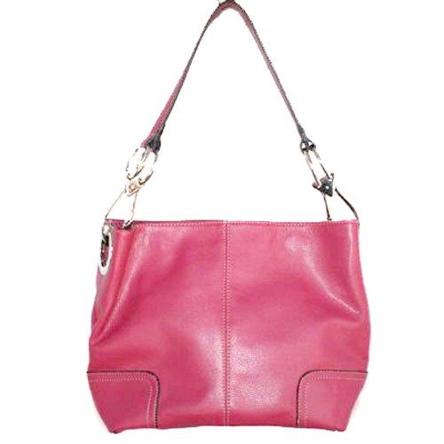 Tosca Classic Medium Shoulder Handbag,Medium,Hot Pink