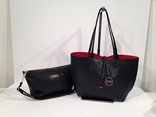 BCBG PARIS Handbag Convertible Reversible Black/red Bag,Stylish Bag, Regular Size, 2014/2015 Collection[Apparel],Available on different Colors