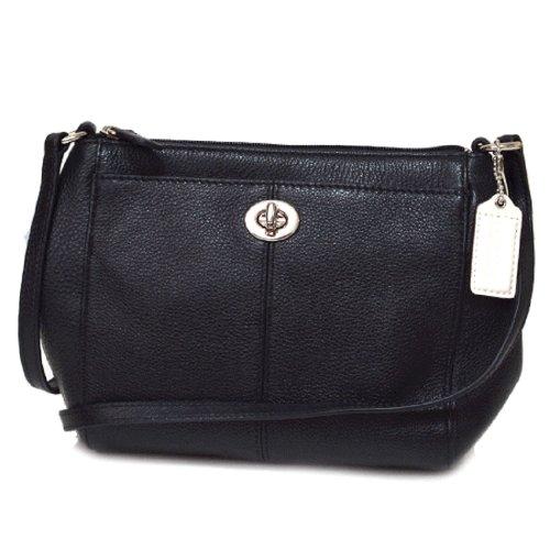 Coach Park Leather Swingpack F51743 Black