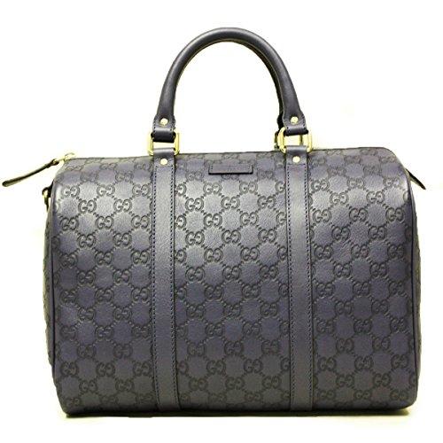 Gucci 362720 Gucci Joy Boston Satchel Bag Blue Leather