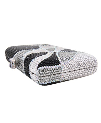 Swarovski Crystal Elements 420 Series Silver Evening Handbag