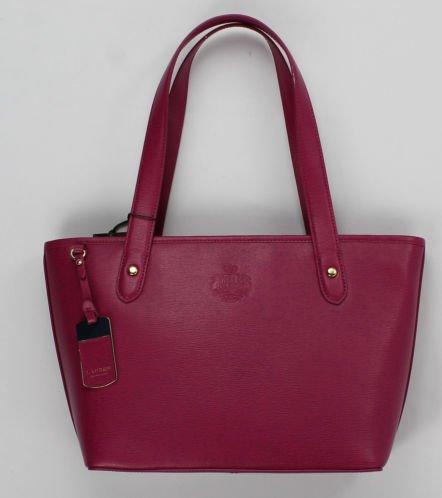 Lauren by Ralph Lauren Newbury Leather Classic Tote Aruba Pink