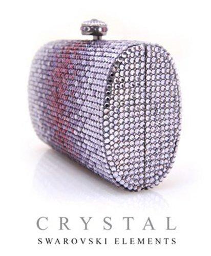 Swarovski Crystal Elements 390 Purple Evening Handbag