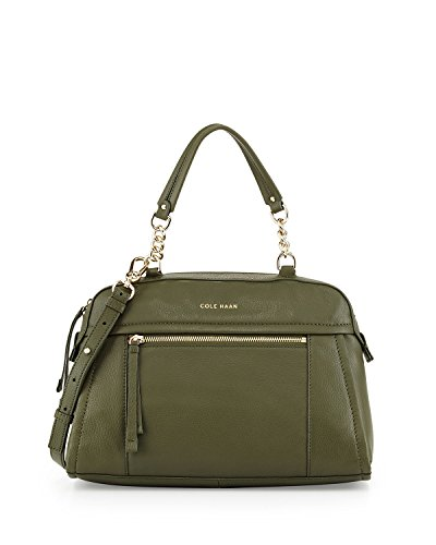 Cole Haan Londyn Leather Dome Satchel Top Handle Bag, Fatigue, One Size