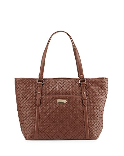 Cole Haan Junia Woven Leather Tote Bag, Sequoia, One Size