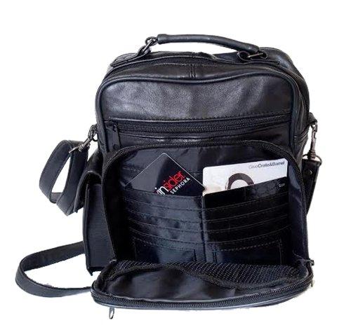 Mylux High Quality Leather Lambskin Multi Pockets Shoulder Bag L370
