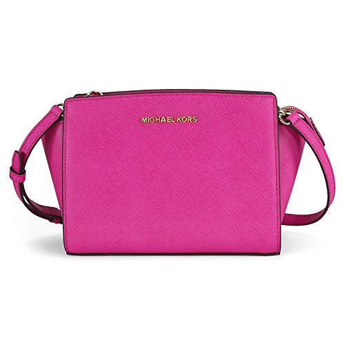 Michael Kors Medium Selma Crossbody – Fuschia