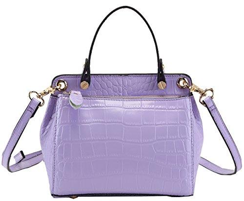 Heshe Genuine Leather Crocodile Fashion Designer Tote Cross Body Shoulder Bag Handbag