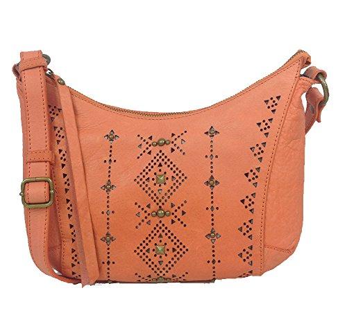 Lucky Brand Newport Leather Crossbody Bag, Orange