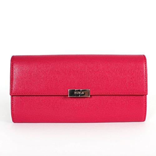 Furla Fuxia 030 Saffiano Leather Classic Hardware Flap Wallet