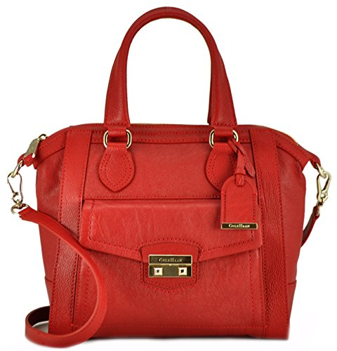 Cole Haan Zoe Small Structured Satchel Tango Red