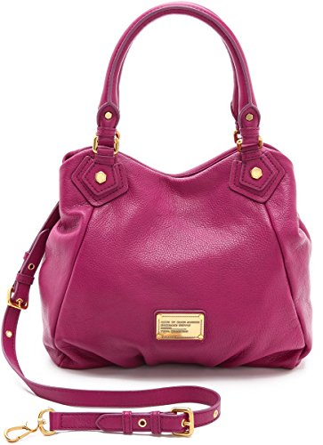 Marc by Marc Jacobs Classic Q Francesca Large Leather Tote, Hot Fuchsia
