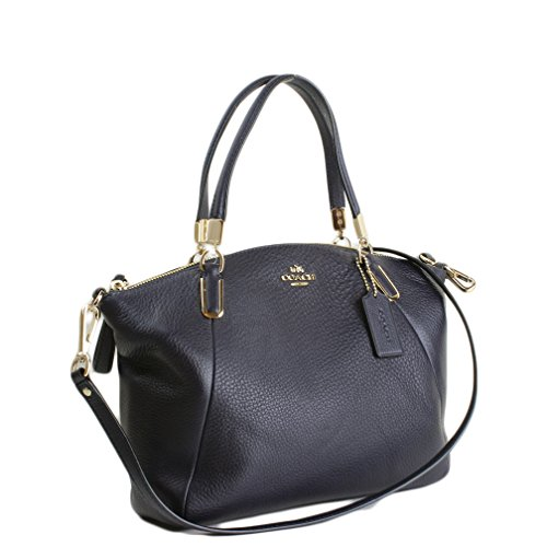 Coach Pebble Leather Small Kelsey Satchel 34493 – Black