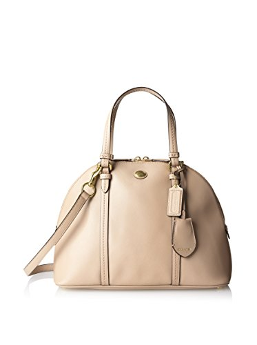 Coach Peyton Sand Saffiano Leather Cora Domed Satchel – Style 25671