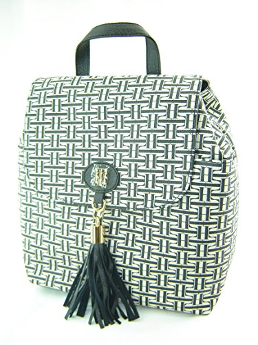 Tommy Hilfiger Mini Backpack Handbag Purse Black Creme Multi