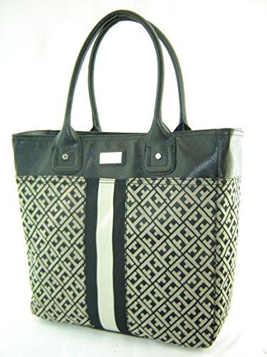 Tommy Hilfiger Large Tommy Tote Handbag Black Multi