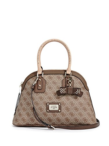 Guess Cheatin Heart Dome Satchel Brown