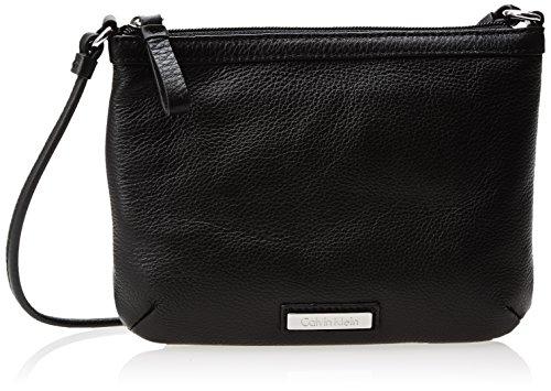 Calvin Klein Pebble Leather Cross Body Bag, Black, One Size