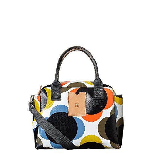 Orla Kiely Etc Giant Flower Printed Tarpaulin Zip Top Tote Handbag Bag