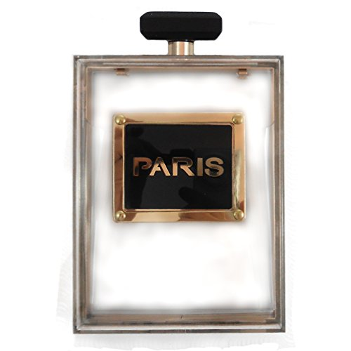 16 Karl Paris Perfume Bottle Lucite Clutch with Leatherette/chain