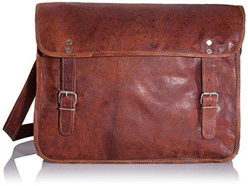 Gusti Genuine Leather Messenger Shoulder Bag Satchel Cross Body Bag Brown U2
