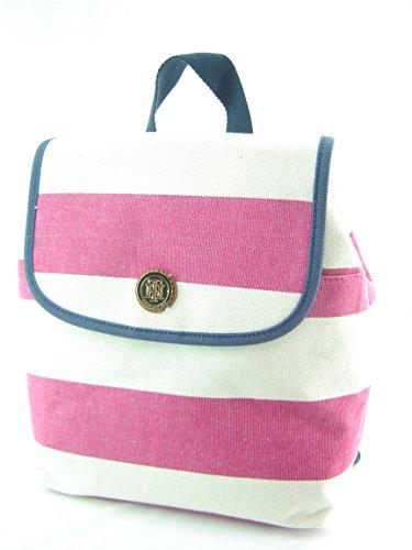 Tommy Hilfiger Mini Backpack Handbag Purse Pink Stripe