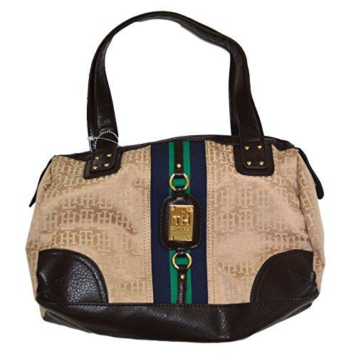 Tommy Hilfiger Handbag Womens Purse Beige Satchel