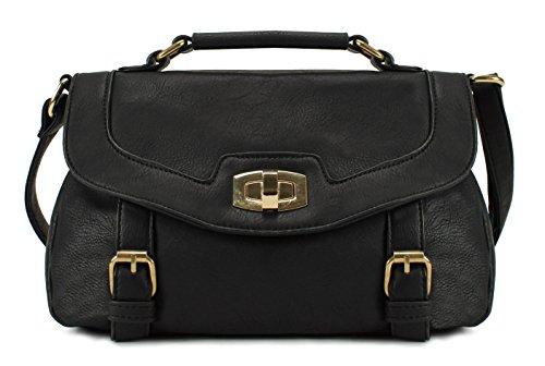 Scarleton Accent Double Belt Vintage Crossbody Bag H1597