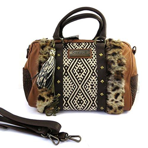 Leather bag 'Desigual'tawny brown.