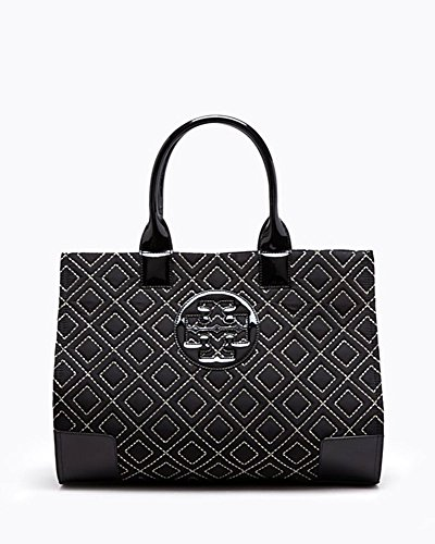 Tory Burch Ella Quilted Nylon Tote in Black