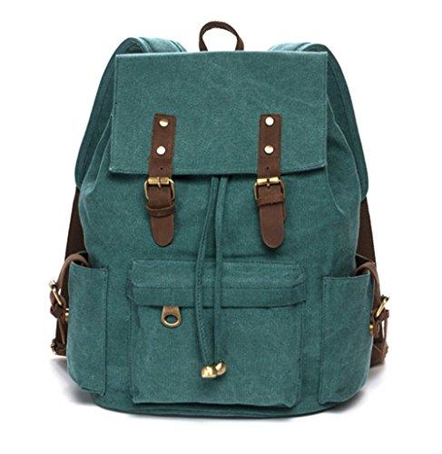 KISS GOLD(TM) Vintage Canvas Backpack Rucksack Bookbag Satchel Hiking Bag School Bag